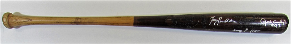 Terry Pendleton 1985  Game 7 WS Used Bat Signed