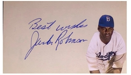 Jackie Robinson Signed Mint PSA/DNA 9 Index Card
