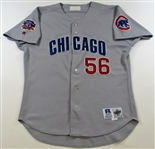 1997 Brian McRae GU Signed Chicago Cubs Road Jersey