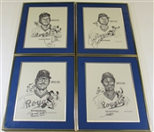 1978 Kansas City Royals All-Star Framed and Signed Players Print