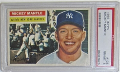 1956 Topps Mickey Mantle PSA 8