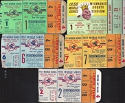 1957-1958 WS New York Yankees Tickets lot of 5