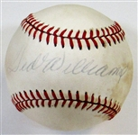 Ted Williams Signed Baseball
