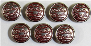 Lot of 7- Mickey Mantle Jeans Buttons