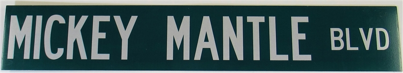Mickey Mantle Blvd. Street Sign 36 x 6 from Commerce, Oklahoma