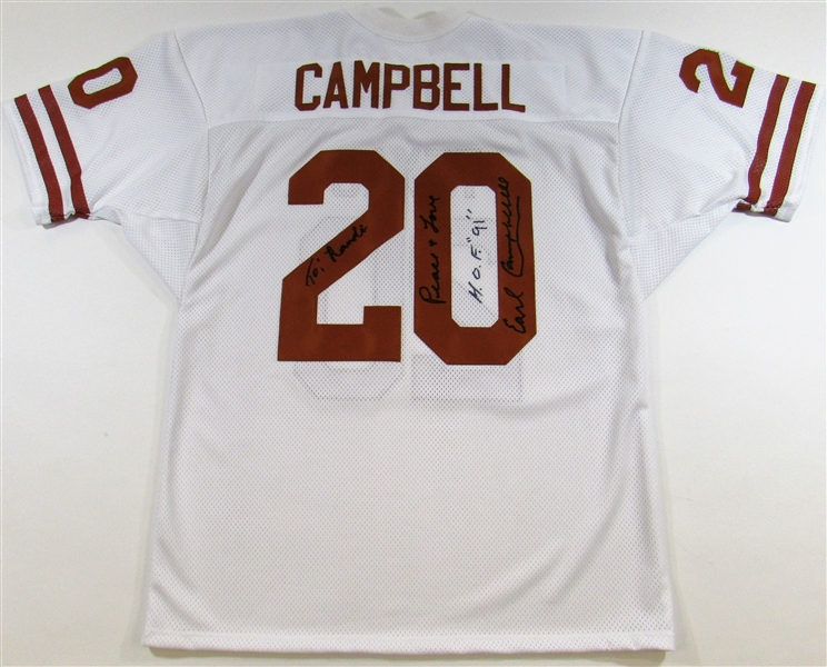 Earl Campbell Signed Jersey Personalized to Randi Mahomes