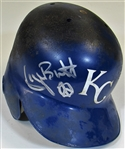 Circa 1992 George Brett Game Used Signed Batting Helmet