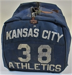 "Kansas City As - 1955-1957 Harry ""Suitcase"" Simpson Travel Bag"