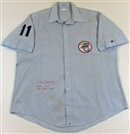Don Denkinger 1985 Baseball Game Worn signed Uniform