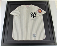 Mickey Mantle Signed & Framed 50 Year Patch Jersey
