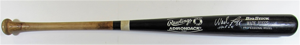 1986 Wade Boggs Signed PSA/DNA 8 Game Used Bat - JSA Autograph