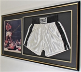 Muhammad Ali Dual Signed Trucks & Photo Framed Both JSA
