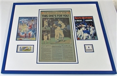 George Brett Signed Framed 1985 Collection Program, Ticket, Newspaper JSA