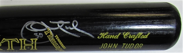 Circa 1987 John Tudor Game Issued Signed Bat