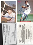 Lot of 2- Brooks Robinson Signed Cards