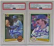 Lot of 2- Dan Quisenberry Signed PSA/DNA Cards