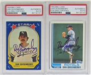 Lot of 2- Dan Quisenberry Signed Kansas City Royals Cards PSA/DNA
