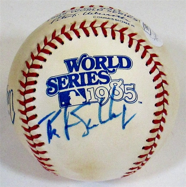 1985 Game Used Kansas City Royals Team Signed Baseball - Brett