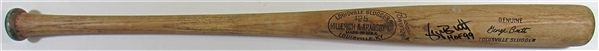 1975 George Brett Game Used & Signed Bat