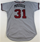 2002 Greg Maddux Game Used Road Atlanta Braves Jersey