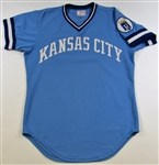 1977 Hal McRae Game Used Road Blue Kansas City Royals Jersey