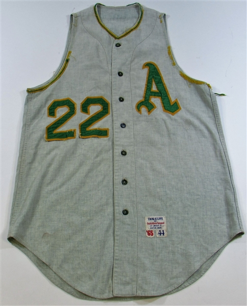 1965 Jim Dickson Game Used Kansas City Athletics Jersey