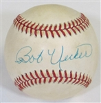 Bob Uecker Signed American League Bobby Brown Baseball