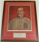 Ty Cobb Signed Check & Limited Edition Framed Print