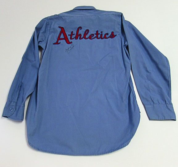 1958 George Toma Kansas City A's Game Worn Groundskeeper Shirt Autographed