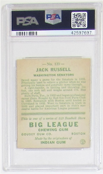 1933 Goudey Jack Russell (PSA 5)