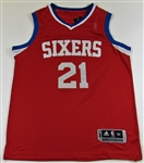 Joel Embiid Signed Phil Sixers Pro Jersey