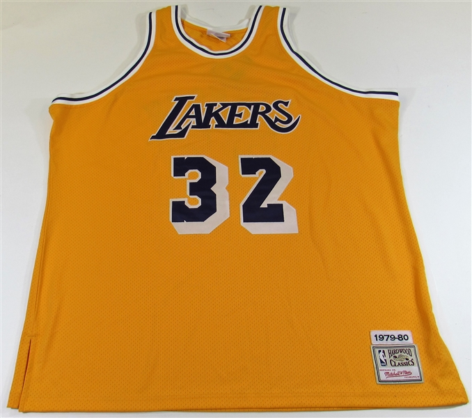 Ervin Magic Johnson Signed Los Angles Lakers Jersey