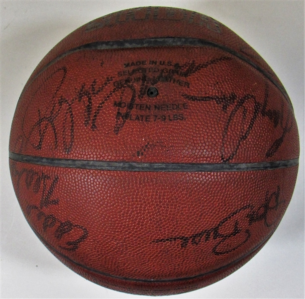 1984-1985 Kansas City Kings Team Signed Basketball