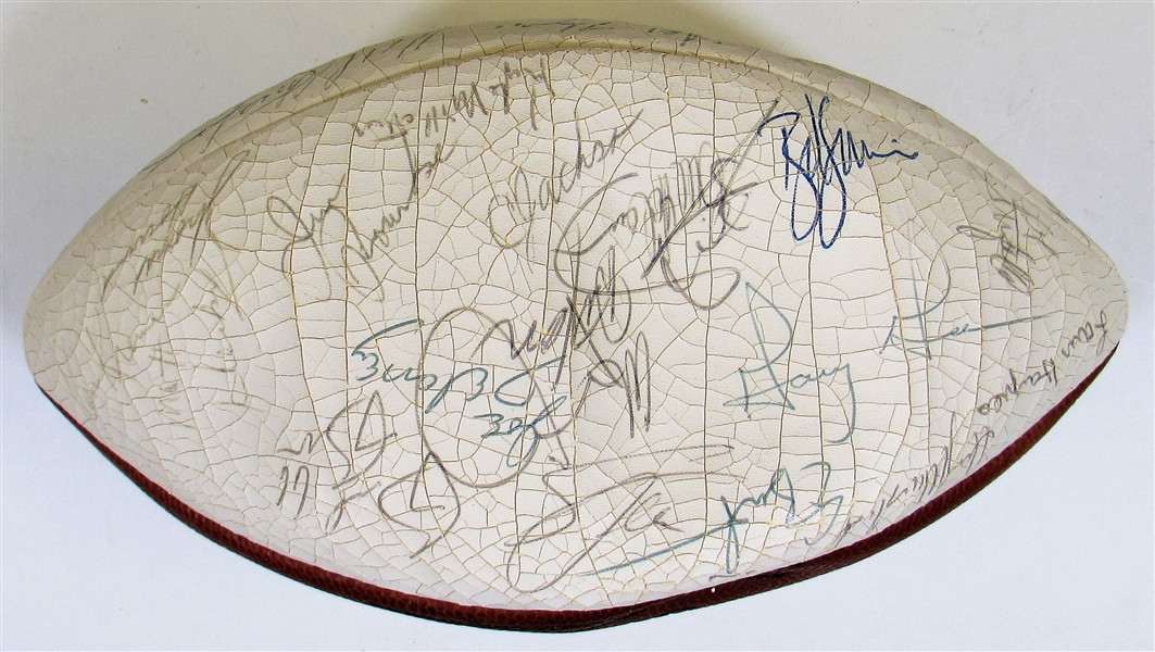 Circa 1982 Kansas City Chiefs Team Signed Football