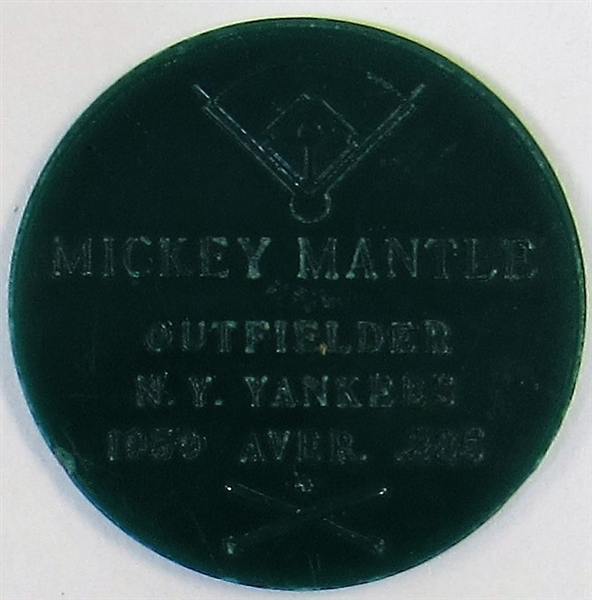 Mickey Mantle Armour 1960 Coin