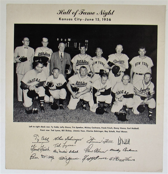 Kansas City - Hall of Fame Night 1956 Photo