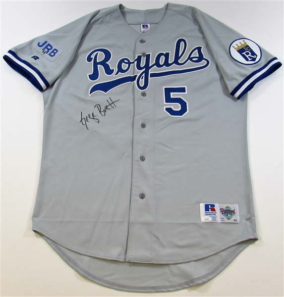 1992 George Brett Signed Game Used Jersey