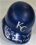 1992-93 George Brett Game Used Signed Batting Helmet