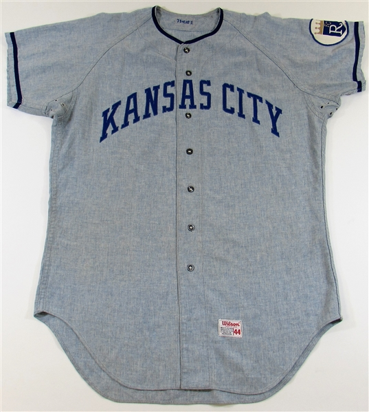1971 Jerry May Game Used Kansas City Royals Jersey