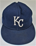 1988-89 Mark Gubicza Game Used & Signed Kansas City Royals Caps