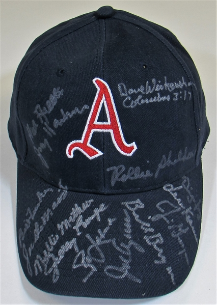 Kansas City A's Signed Cap 14 Players - Jerry Lumpe