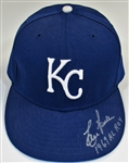 Lou Piniella Signed 1969 ROY Kansas City Royals Cap
