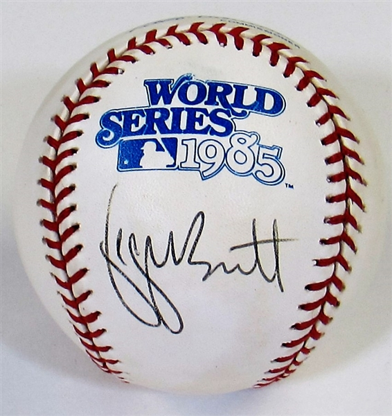 George Brett Signed 1985 WS Baseball