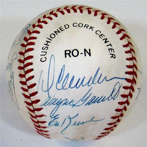 NY Mets 1969 Team Signed Reunion Baseball (Seaver)