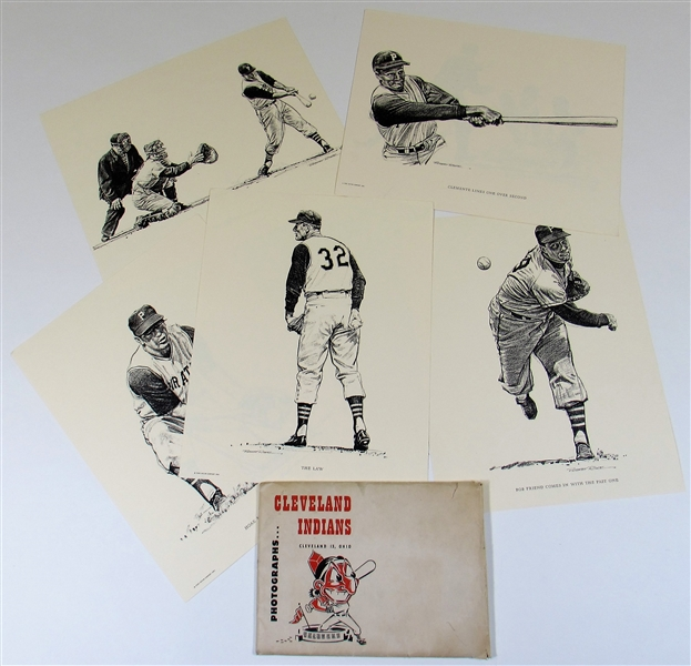 Pittsburgh Pirates Original Ford Motor Art & Cleveland Pic - Roberto Clemente