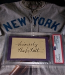 Babe Ruth Dual Authenticated Autograph