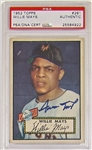 Signed 1952 Topps Willie Mays Card PSA/DNA #25584922