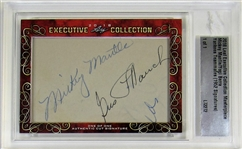 Mickey Mantle Early Rookie Era 2018 Leaf EX Collection Autograph