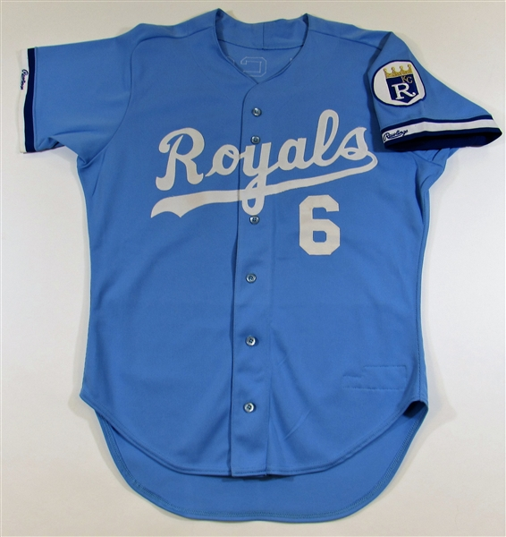 1987 Willie Wilson GU Kansas City Royals Jersey