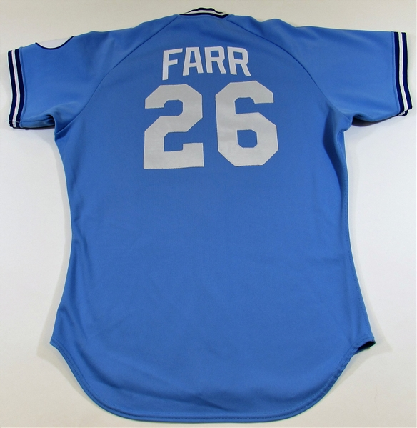 1988 Steve Farr GU Kansas City Royals Jersey